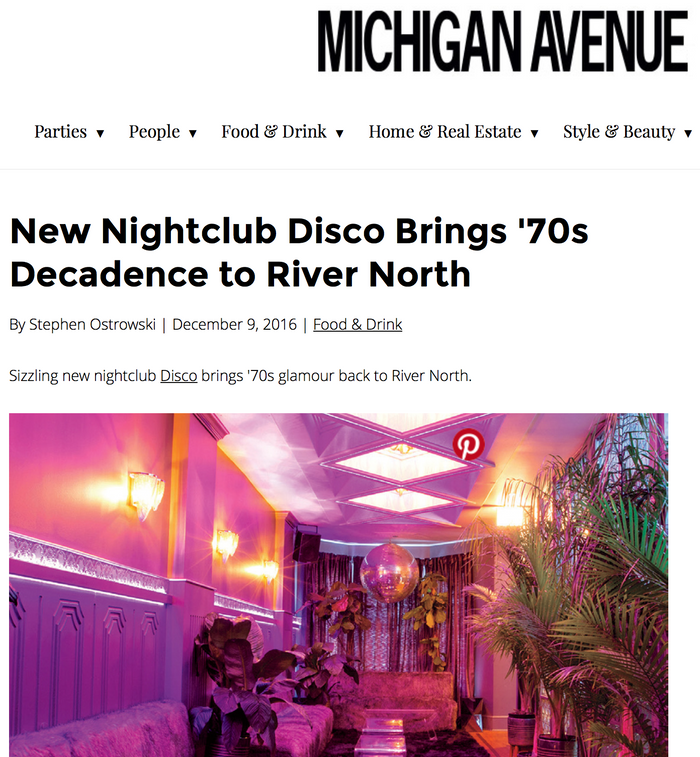 New Nightclub Disco Brings '70s Decadence to River North