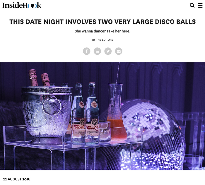 THIS DATE NIGHT INVOLVES TWO VERY LARGE DISCO BALLS She wanna dance? Take her here.