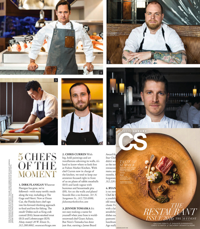 """The 50 Finest """"5 CHEFS OF THE MOMENT"""""""