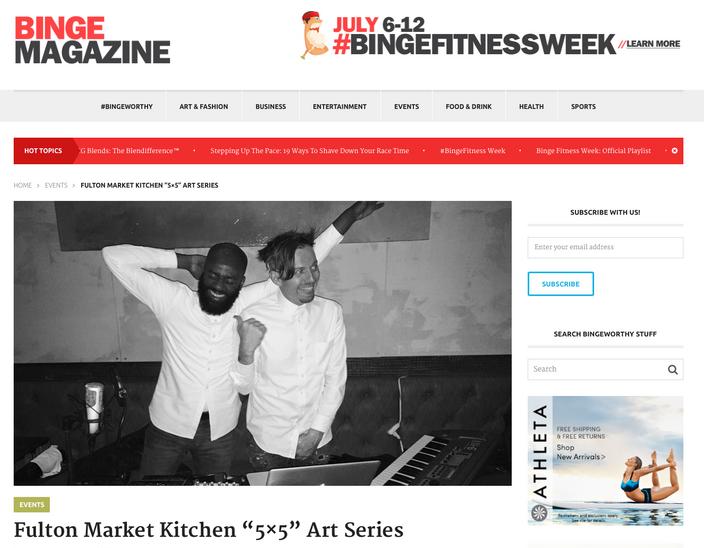 """Fulton Market Kitchen """"5×5"""" Art Series"""