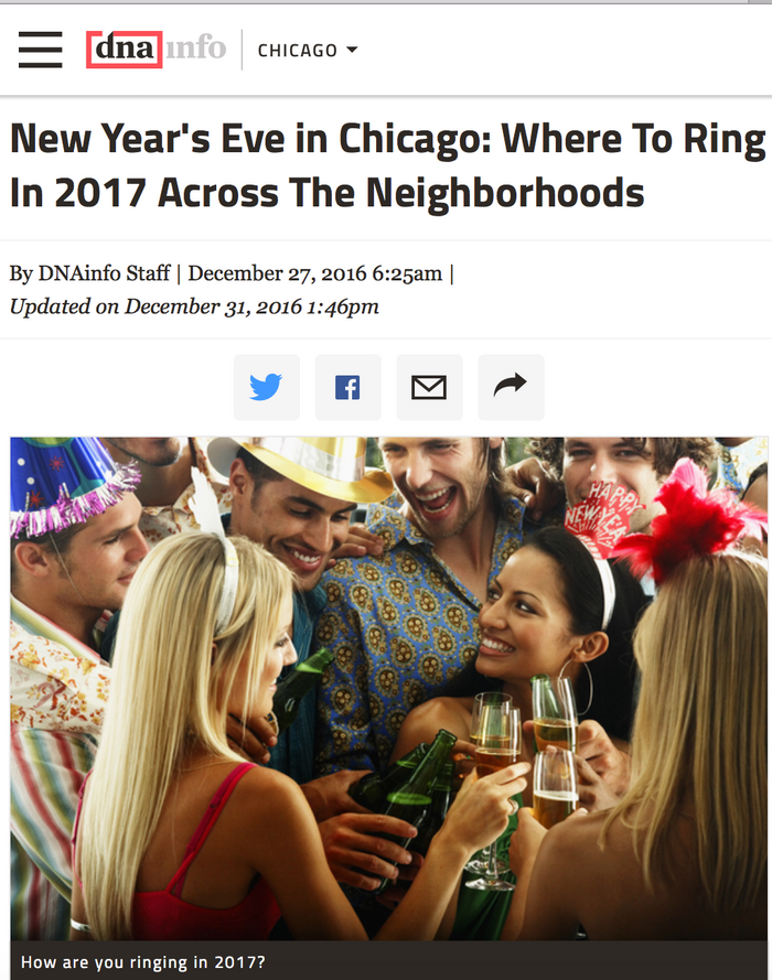 New Year's Eve in Chicago: Where To Ring In 2017 Across The Neighborhoods