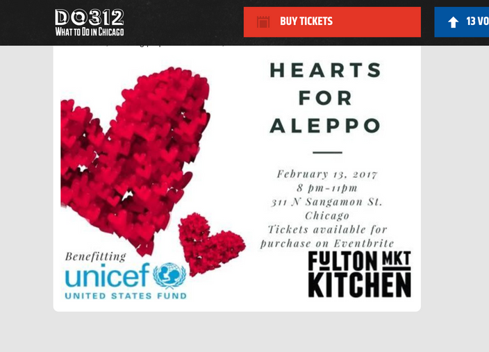 Featured Event: Hearts For Aleppo