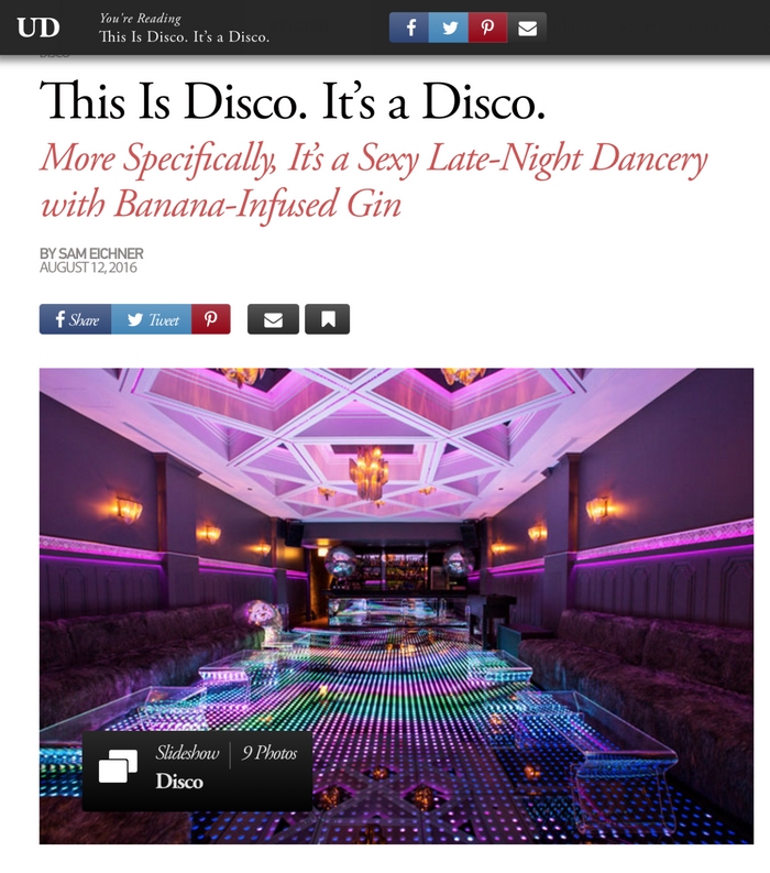 This Is Disco. It's a Disco.