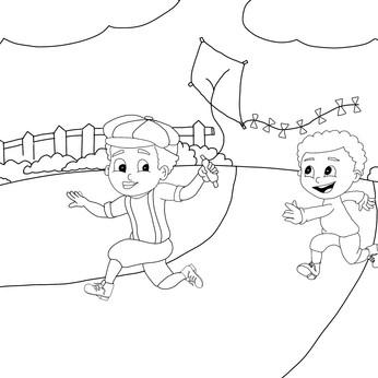 Koree & Kyree Fly a Kite