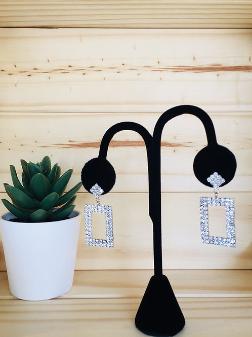 SQUARE BIZ EARRINGS