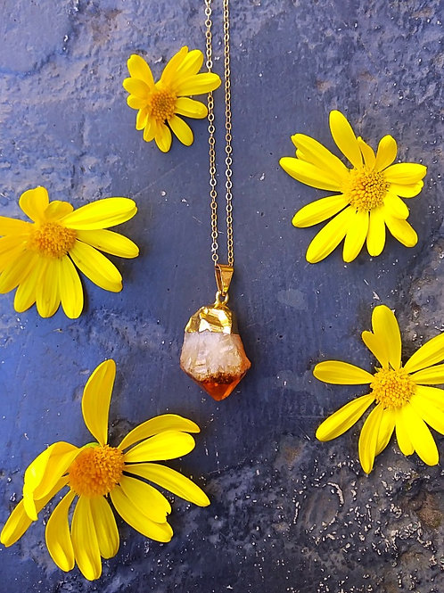 HAPPY GO LUCKY CITRINE NECKLACE
