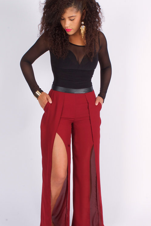RUBY FRONT SLIT PALAZZO PANTS
