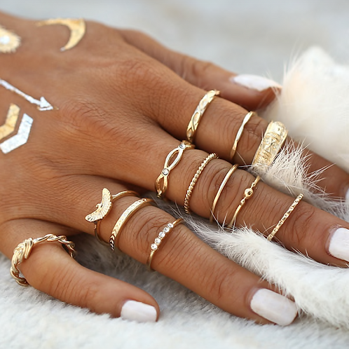 CLEOPATRA MIDI RING SET