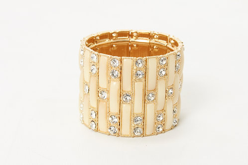 IVORY AND GOLD CUFF BRACELET