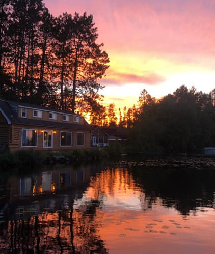 Sunset over Lodge