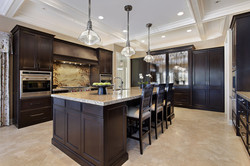 kitchen dark brown