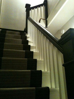 shubie farmhouse stairs from bottom