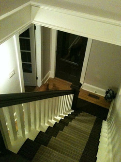 shubie farmhouse stairs from top