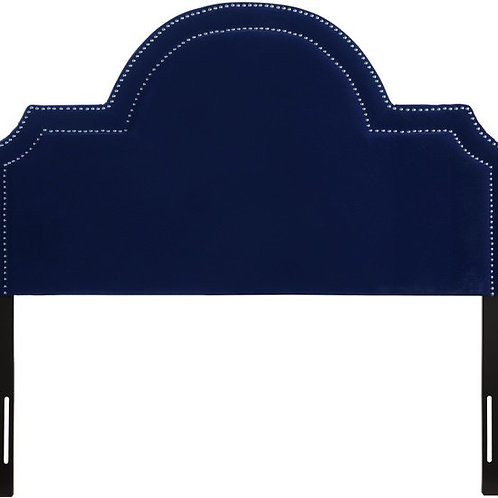 Laylah Queen Headboard in Pebbled Velvet