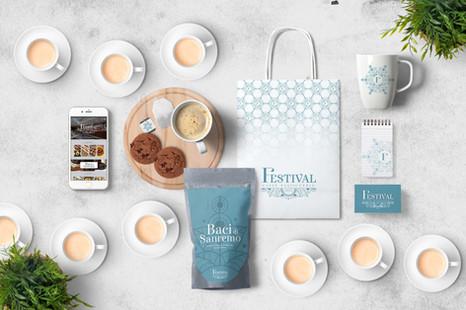 branding pasticceria caffè FESTIVAL, sanremo