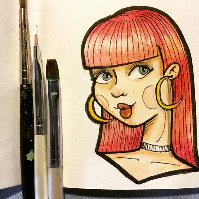 #80s #hairstyle #watercolor #sketch #ill