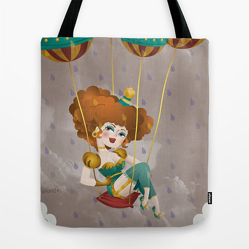 TOTE BAG Carried by the wind