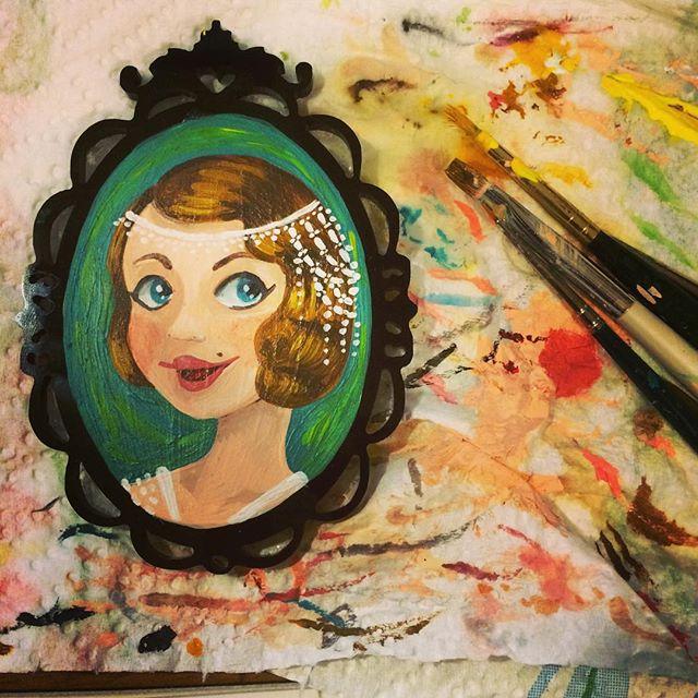 Cameo 7x5 cm dipinto a mano_ dipingere q