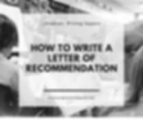 Dịch vụ viêt Letter of Recommendation
