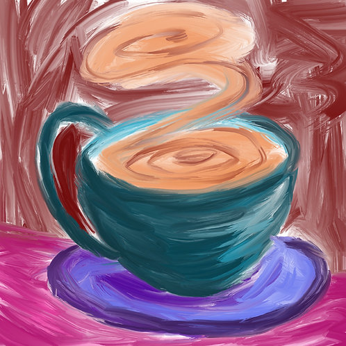 Swirly Cup of Coffee Print