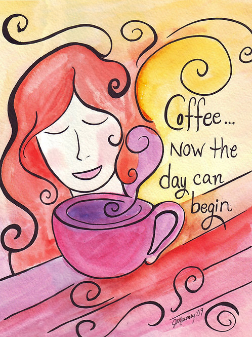 Coffee Now Card - Set of 4