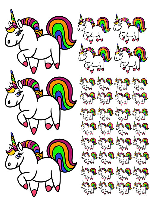Unicorn Super Fun Vinyl Sticker Set