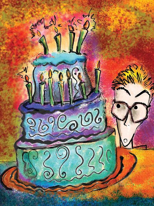 Birthday Cake Card - Set of 4