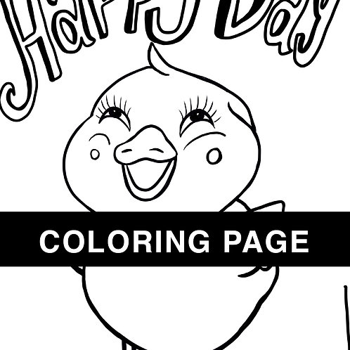 Happy Day Chick Coloring Page
