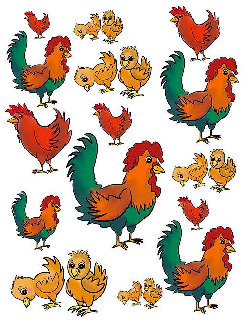 Chickens Are The Best Vinyl Sticker Set