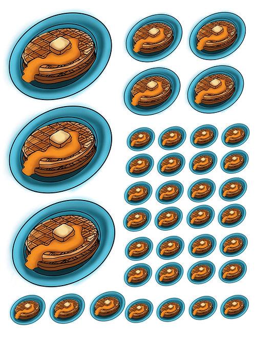 Waffles Super Fun Vinyl Stickers
