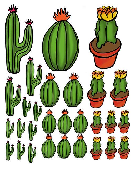 Cactus Super Fun Vinyl Stickers