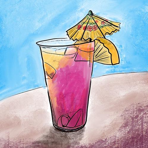 Julie's Tiki Drink Print