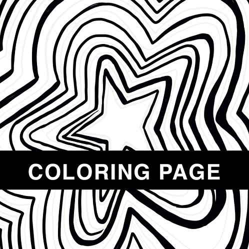 Super Star Coloring Page