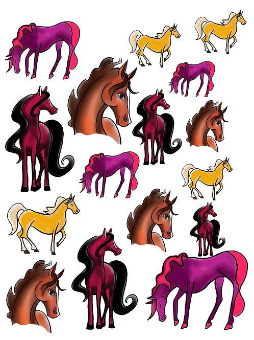 Fantastic Horses Vinyl Sticker Set
