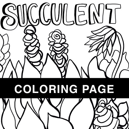 Succulent Coloring Page