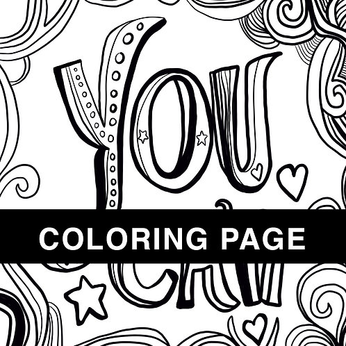 You Can Coloring Page