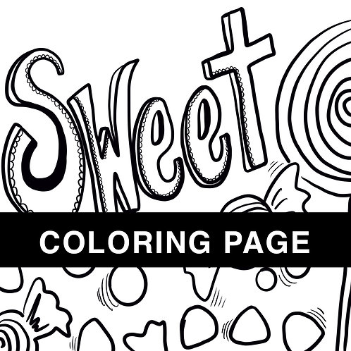 Sweet Coloring Page
