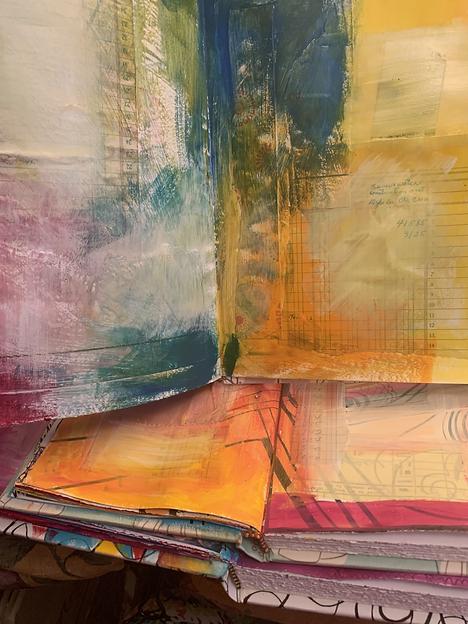 Art Journals, three stacked