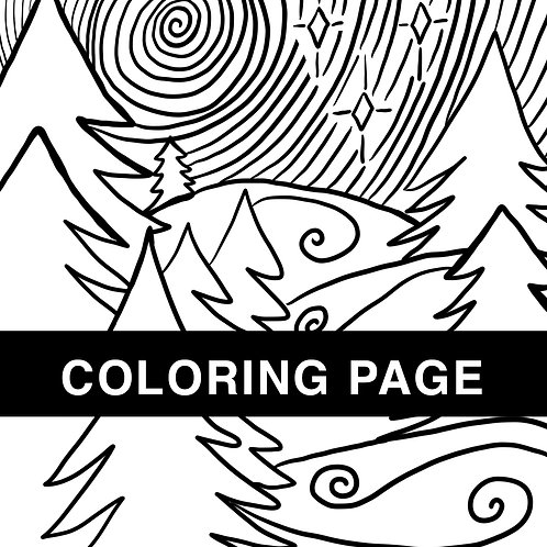Winter Evening Coloring Page