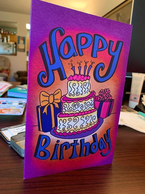 Happy Birthday Card - Set of 4