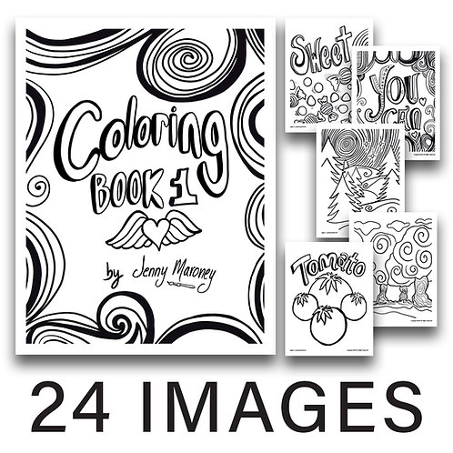 Jenny Inspired Coloring Book 1