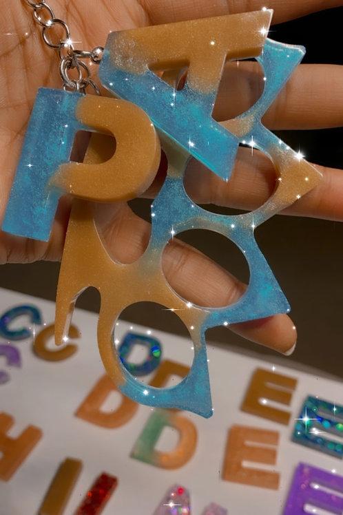 Knuckle/Letter Keychain Set