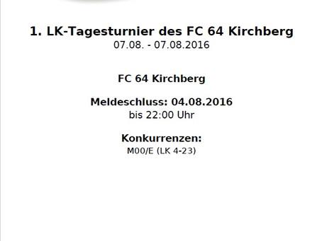 1. LK-Tagesturnier des FC 64 Kirchberg