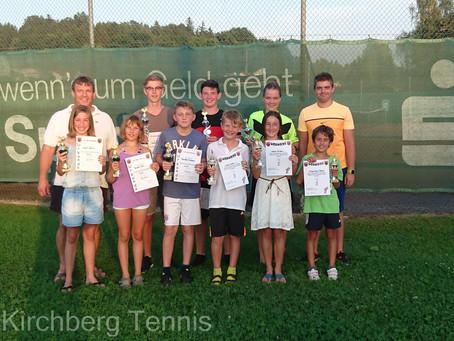 Kirchberger Tennisjugend ermittelt Vereinsmeister