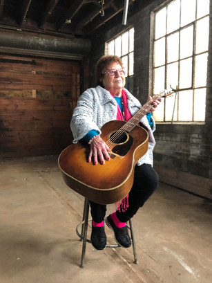 """""""Kalamazoo Gal"""" Irene visits original Gibson factory, a silent monument to WWII women luthiers"""