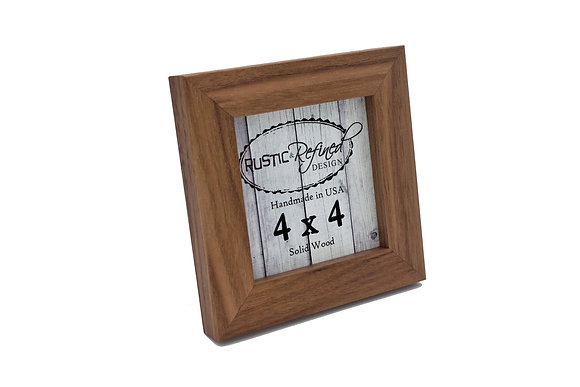 """4x4 1"""" Gallery Picture Frame - Black Walnut"""