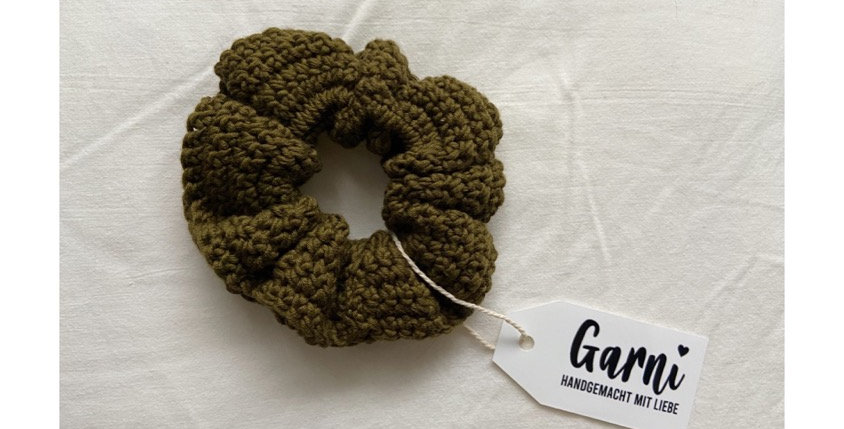 Olive Scrunchie by Garni