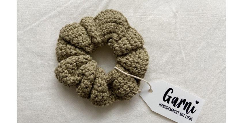 Khaki Scrunchie by Garni