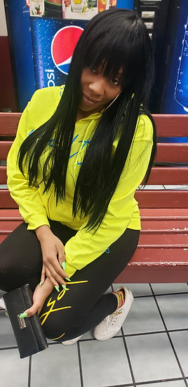 "Loyalty (Front) Respect (Back) Yellow ""Hoodie & Leggings Set"""