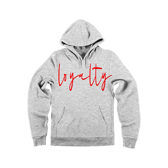 """Loyalty / Respect"" Cursive Pullover Hoodie"